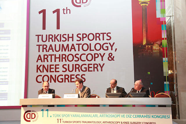 A view from the FAI Surgery Panel. From left to right:  Dr. Asım Kayaalp, Dr. Michael Dienst, Dr. Reha Tandogan, Dr. Ahmet Turan Aydın